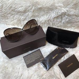 Tom Ford Miranda gradient brown lens sunglasses